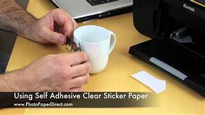using self adhesive clear sticker paper youtube With how to print on sticker paper