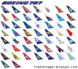 Boeing 787 Airline Tail Logos