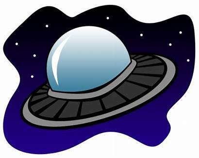 Ufo Alien Clipart Cartoon Clip Spaceship Space