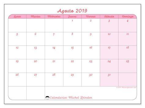 calendario agosto  ld calendario enero