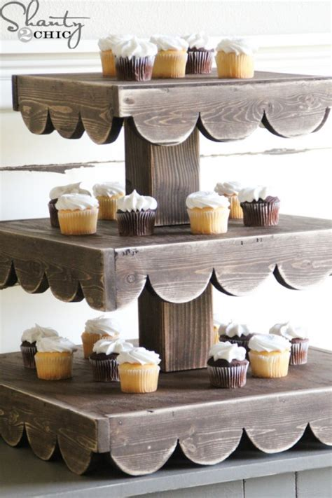 diy cupcake stand   giveaway shanty  chic
