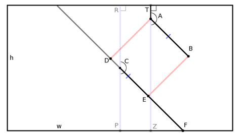 Math Geometry Diagram by Geometry Find Point At Edge Of Rectangle Given
