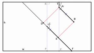 Geometry - Find Point At Edge Of Rectangle  Given Unrelated Angle