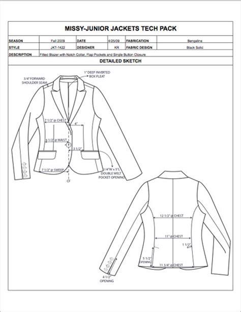 tech pack template fashion apparel tech pack templates my practical skills my practical skills