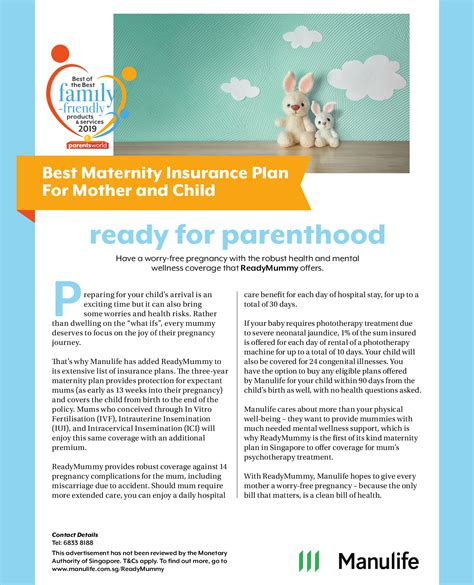 Whether you are pregnant or planning to start a family, make sure you are covered by the best. Best Maternity Insurance Plan For Mother and Child - Parents World