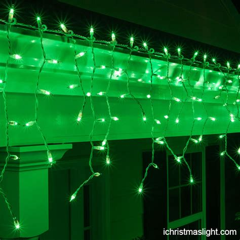 decorative led green icicle lights supply ichristmaslight