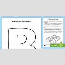 Litera B Poveste  Poveste, Litera B, Clasa Pregătitoare, Joc