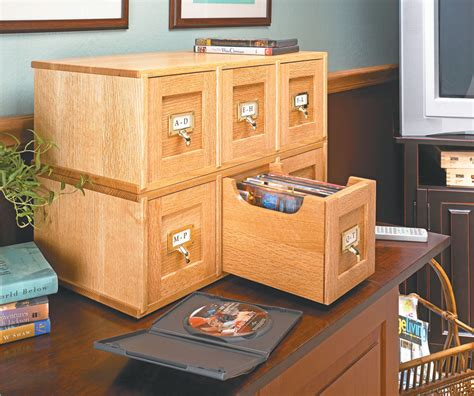 dvd storage case woodworking project woodsmith plans