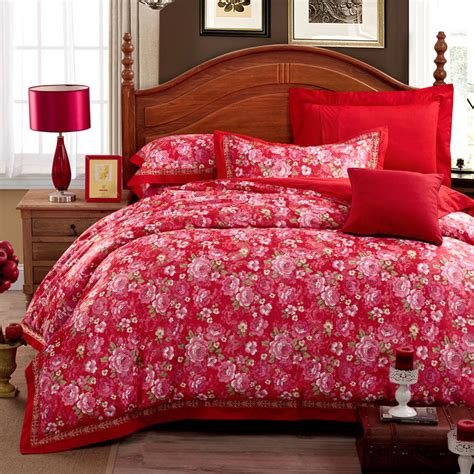 printed cotton satin embroidery sexy comforter sets silk