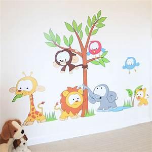 Wall Art Decor: Kids Baby Wall Art Stickers Nursery Jungle