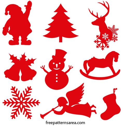 Please see our disclosure policy for full details. Christmas Ornament Silhouette Vector Shapes ...