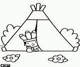 Colorear Tienda Dibujos Indios Indio Tenda Imagenes Indiano Coloring Pintar Colorare Imprimir Disegni Tent Mirando Dibujar Faciles Indiani Indian Hogar sketch template