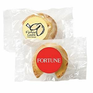 Custom Message Fortune Cookie with Printed Wrapper