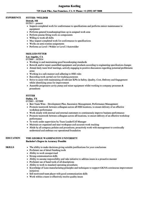 fitter resume sles velvet