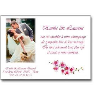 remerciement mariage remerciement mariage orchidée lutin faire part