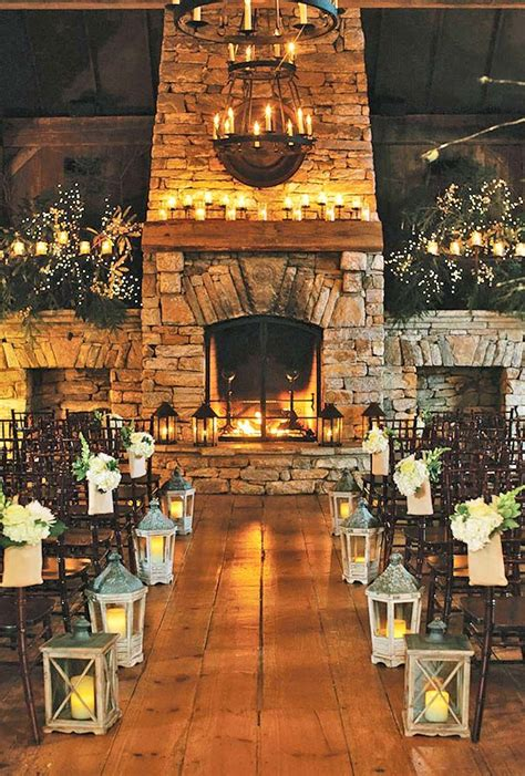 ideas  cozy  fancy rustic winter wedding wedding