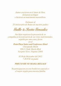 best photos of 25th church anniversary invitation samples With 25th anniversary wedding invitations in spanish