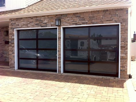 glass garage doors aluminum view glass garage doors aj garage door