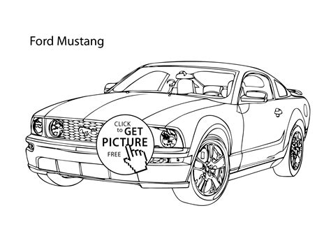 Super Car Ford Mustang Coloring Page Cool Car Printable