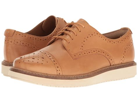 mens light brown oxfords lyst clarks glick castine leather oxford shoes in brown
