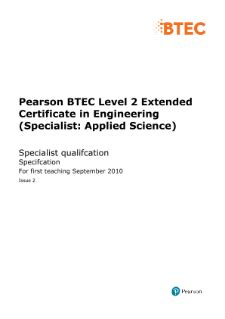 BTEC Specialist | Engineering (Specialist - Applied