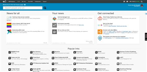 Intranet Home Page : Ibm's New Intranet Represents Change In Intranet Design