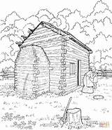 Cabin Coloring Log Lincoln Abraham Pages Printable Logs Sketch Cabins Drawing Clipart Colouring Abe Supercoloring Adult Sheets Mountain Template Books sketch template