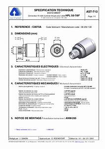 Acome Connector Data Sheets