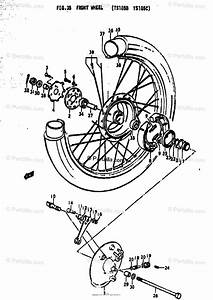 Suzuki Motorcycle 1979 Oem Parts Diagram For Front Wheel