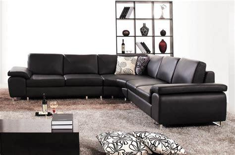 canapé d 39 angle en cuir luxe italien 6 places biarritz