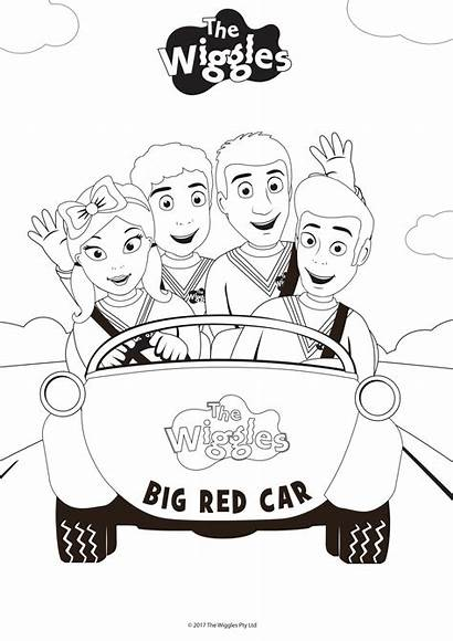 Wiggles Coloring Pages Drawing Birthday Emma Printable