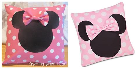 minnie mouse pillow crafting when i can minnie mouse pillow