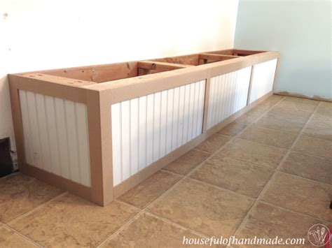 Dining Room Built In Bench With Storage  A Houseful Of