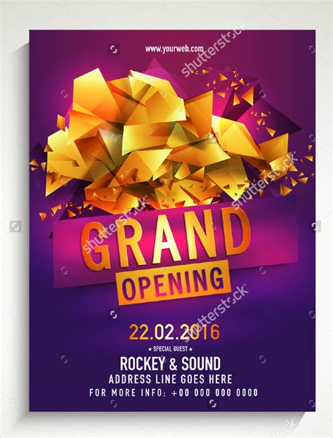 grand opening flyer templates sample templates