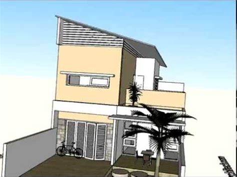 rumah dua lantai beratap miring arsitektur rumah tinggal