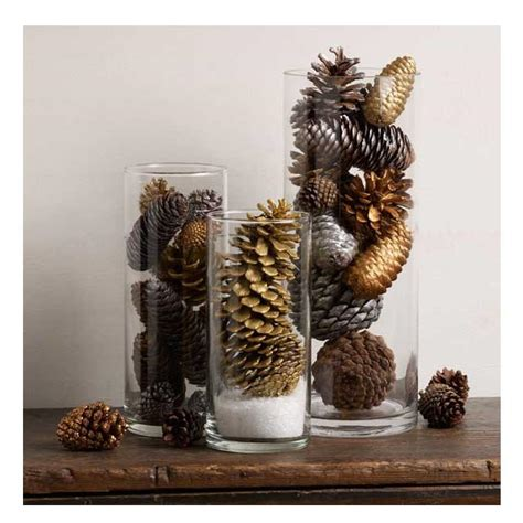 glittering pine cone table decorations diyideacentercom