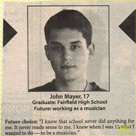 john mayer   cute   high school pic photo