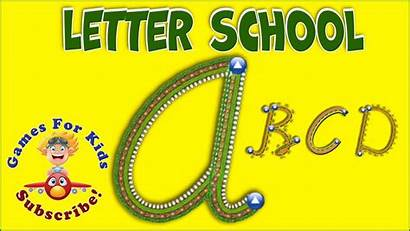 Cursive Letter Alphabet Letters Case Preschool Games