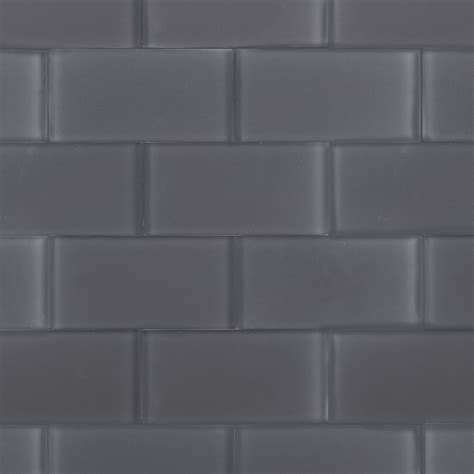 grey tiles with grey grout shop for loft ash gray frosted 3x6 glass tile at tilebar