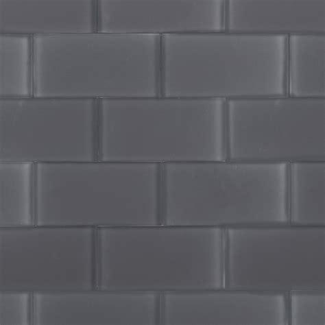 grey glass tile loft ash gray frosted 3x6 glass tile