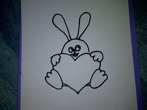 Hase Basteln Einfach : hase mit herz zeichnen zeichnen basteln zum muttertag vatertag oder geburtstag ~ Orissabook.com Haus und Dekorationen