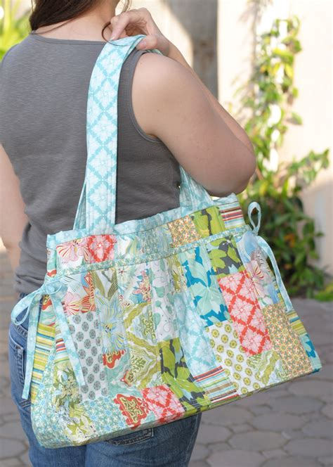 clover violet  stella diaper bag pattern release