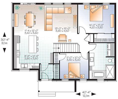 bedroom bungalow floor plans open concept