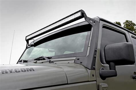 straight led light bar upper windshield mounting