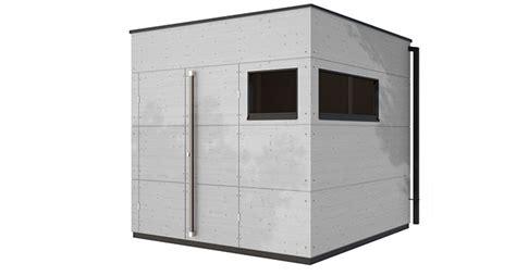 Modernes Gartenhaus Flachdach by Gartenhaus Trennwand Einhausung Carport Gartana