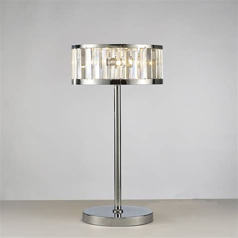 3 light table l diyas il30176 torre table l 3 light polished chrome crystal