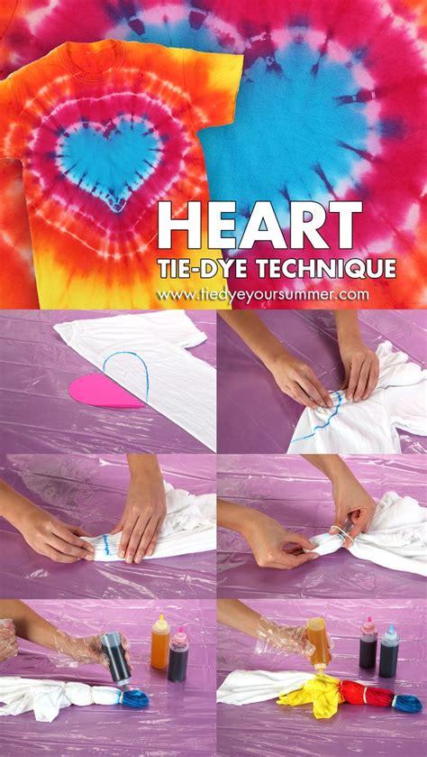 heart tie dye technique pattern   cool technique