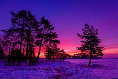 Winter Sunset Desktop Getwallpapers