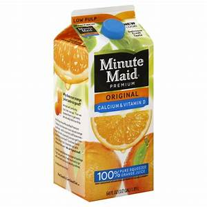 Minute Maid Premium Original Orange Juice Calcium ...