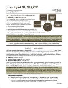 Executive Resume Portfolios by Resume Healthcare Executive Small Png